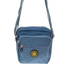 На фото 2 - Текстильная кросс-боди, цвет голубой