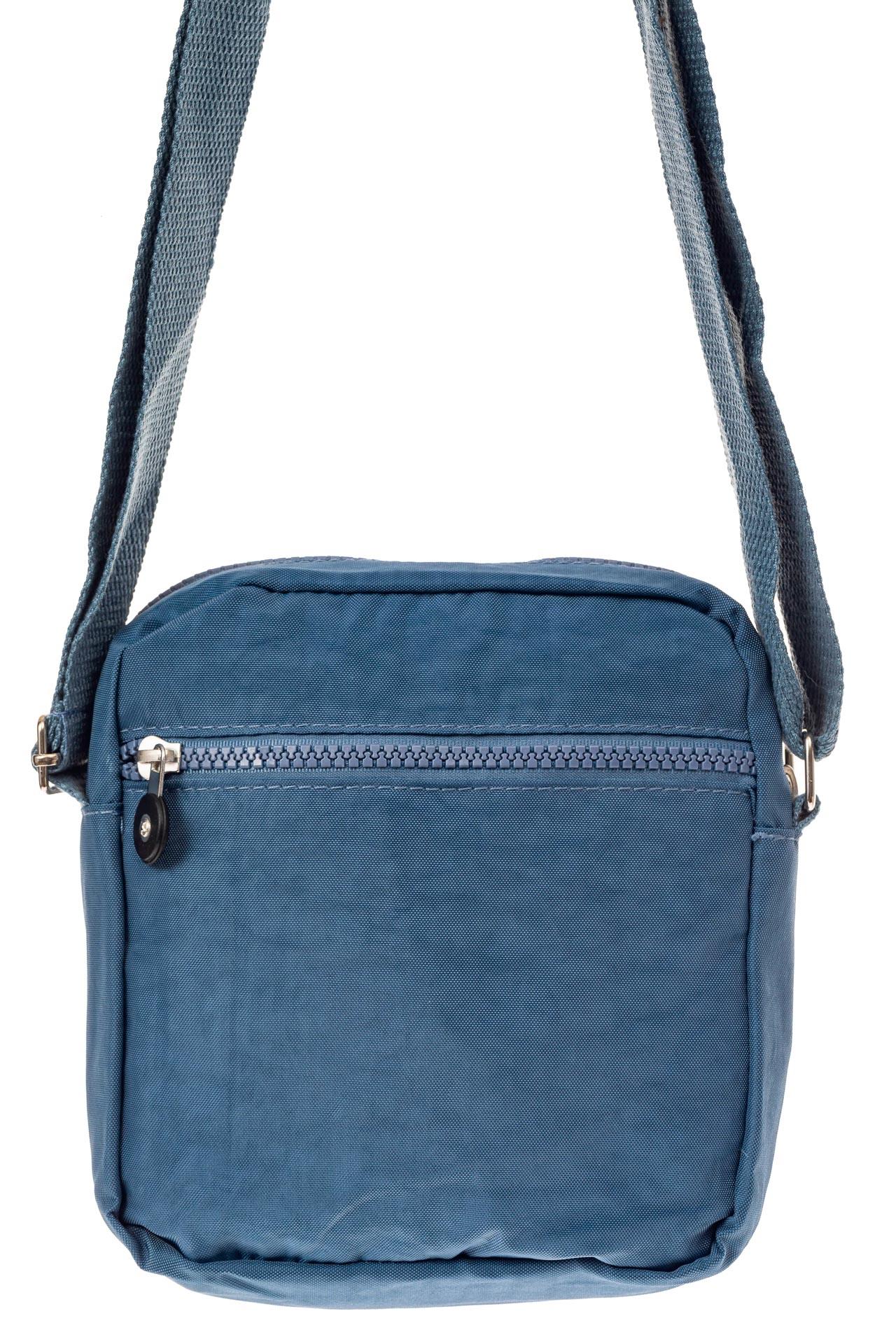 На фото 3 - Текстильная кросс-боди, цвет голубой