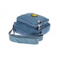 На фото 4 - Текстильная кросс-боди, цвет голубой