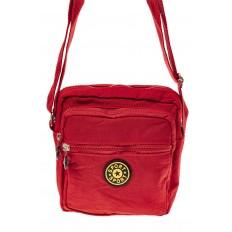 На фото 2 - Текстильная кросс-боди, цвет красный