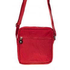 На фото 3 - Текстильная кросс-боди, цвет красный
