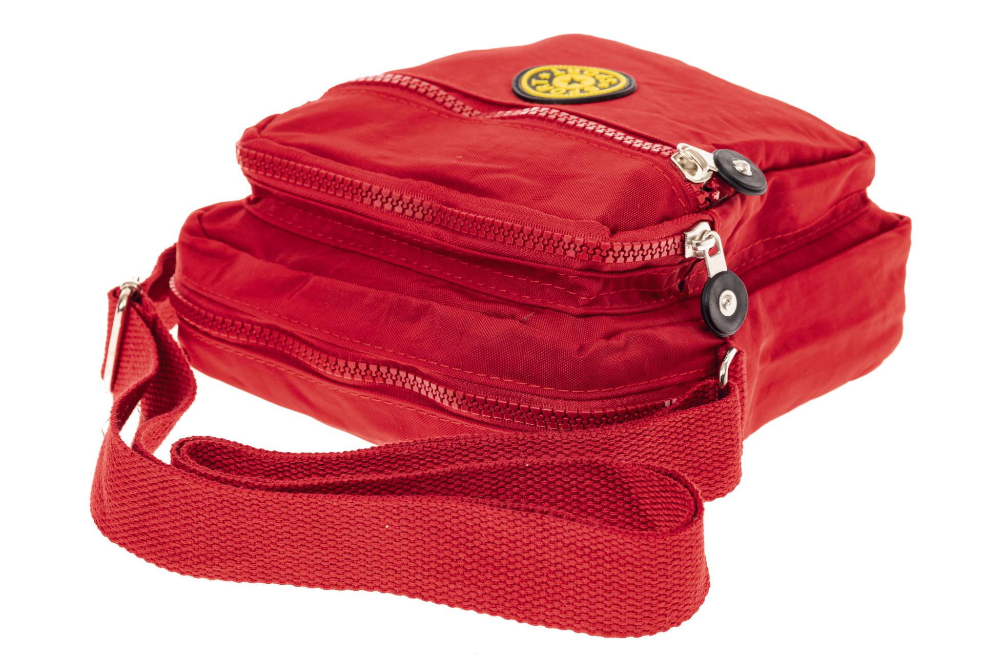 На фото 4 - Текстильная кросс-боди, цвет красный