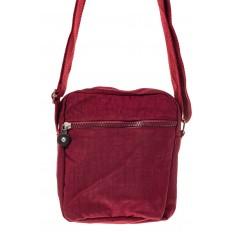 На фото 3 - Текстильная кросс-боди, цвет бордо