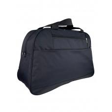 На фото 1 - Багажная женская сумка из текстиля, цвет чёрный