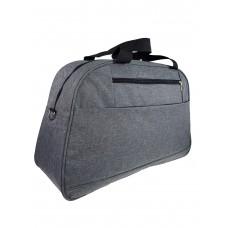 На фото 1 - Багажная женская сумка из текстиля, цвет серый