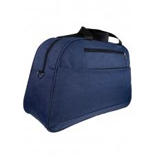 На фото 1 - Багажная женская сумка из текстиля, цвет синий