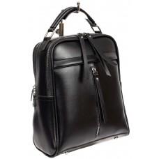 На фото 1 - Женский рюкзак из искусственной кожи, цвет чёрный