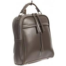 На фото 1 - Женский рюкзак из искусственной кожи, цвет серый