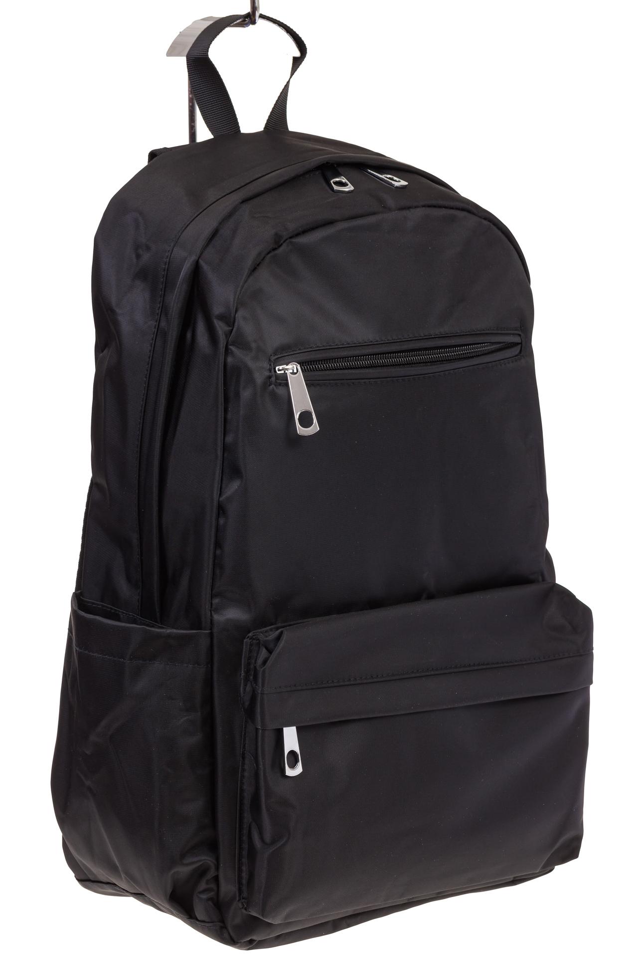 На фото вертикальный рюкзак, цвет – черный, материал – текстиль, купить оптом в магазине Грета