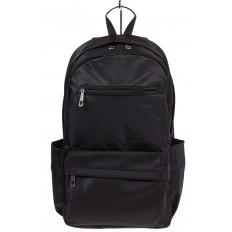 На фото 2 - Вертикальный рюкзак из текстиля, цвет – черный