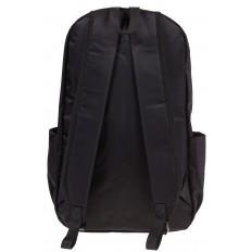На фото 3 - Вертикальный рюкзак из текстиля, цвет – черный