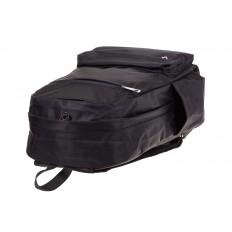 На фото 4 - Вертикальный рюкзак из текстиля, цвет – черный