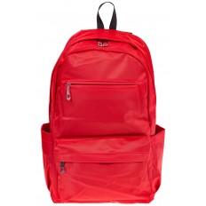 На фото 2 - Вертикальный рюкзак из текстиля, цвет – красный