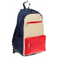 На фото вертикальный рюкзак, цвет – сине-бело-красный, материал – текстиль, купить оптом в магазине Грета