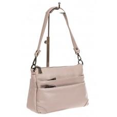 На фото 1 - Классическая женская сумка из искусственной кожи, цвет светло-серый