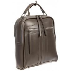 На фото 1 - Рюкзак женский из искусственной кожи, цвет серый