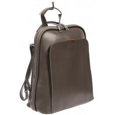 На фото 1 - Женский рюкзак-трансформер из экокожи, цвет серый