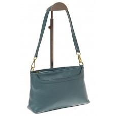 На фото 1 - Женская сумка из натуральной кожи, цвет гол...