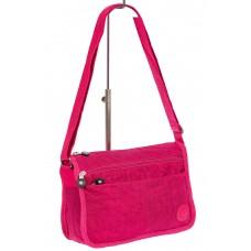 На фото 1 - Женская тканевая сумка кросс-боди, цвет фуксия