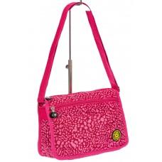 На фото 1 - Женская тканевая сумка кросс-боди, цвет комбинированный