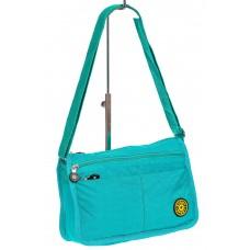 На фото 1 - Женская сумка кросс-боди из полипропилена цвет бирюзовый