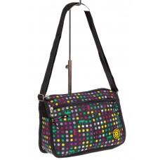 На фото 1 - Женская сумка кросс-боди, цвет комбинированный