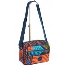 На фото 1 - Женская сумка кросс-боди, с геометрическими узорами