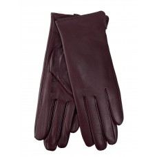 На фото 1 - Женские перчатки из натуральной кожи, цвет бордовый
