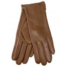 На фото 1 - Женские перчатки из натуральной кожи, цвет рыжий