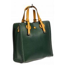 На фото 1 - Женская сумка тоут из искусственной кожи, цвет зеленый