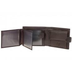 На фото 2 - Коричневый мужской кошелек из натуральной кожи