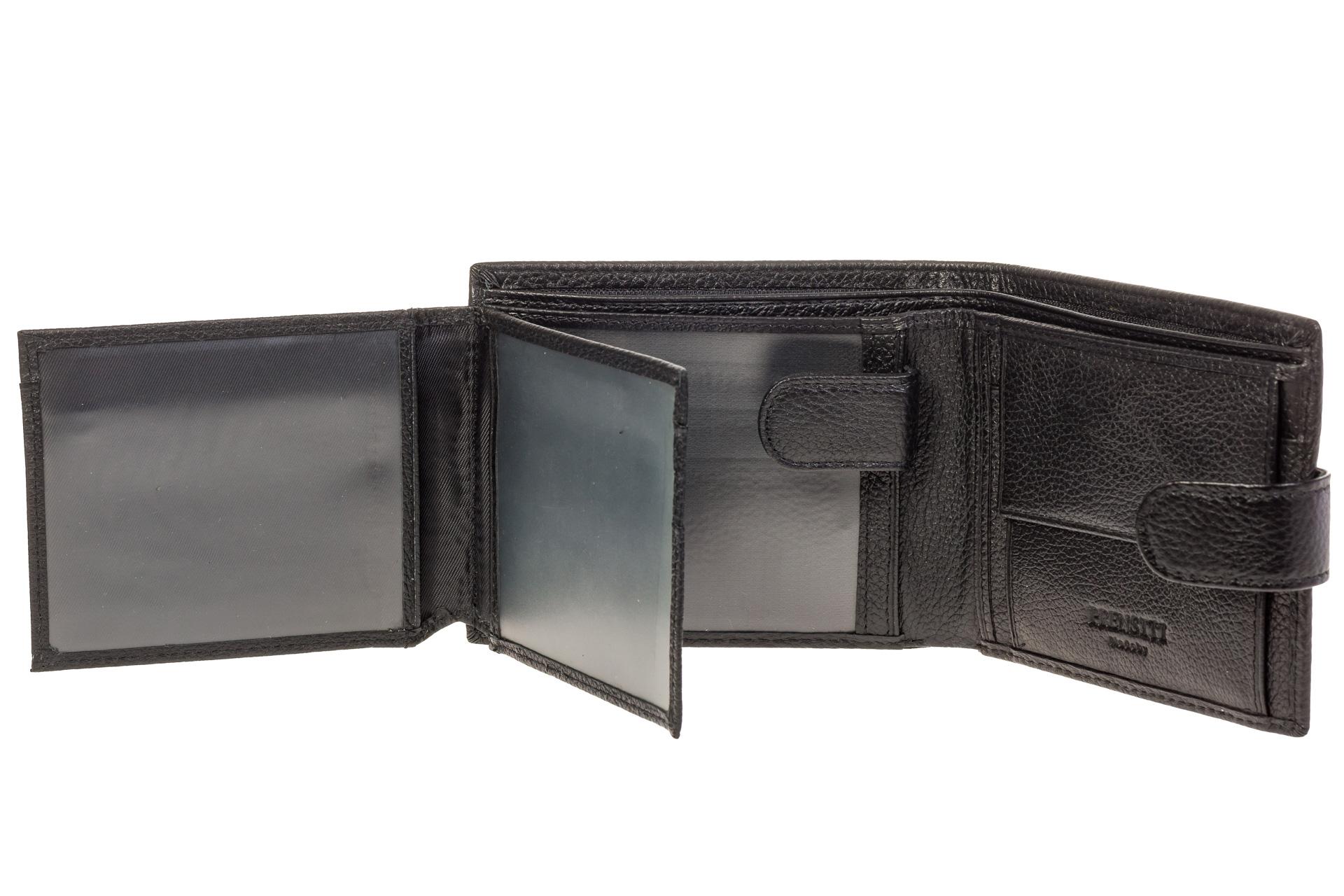 На фото 2 - Брендовый кошелек-книжка из черной кожи