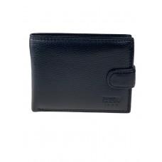На фото 1 - Мужской кошелёк из мягкой кожи, цвет чёрный