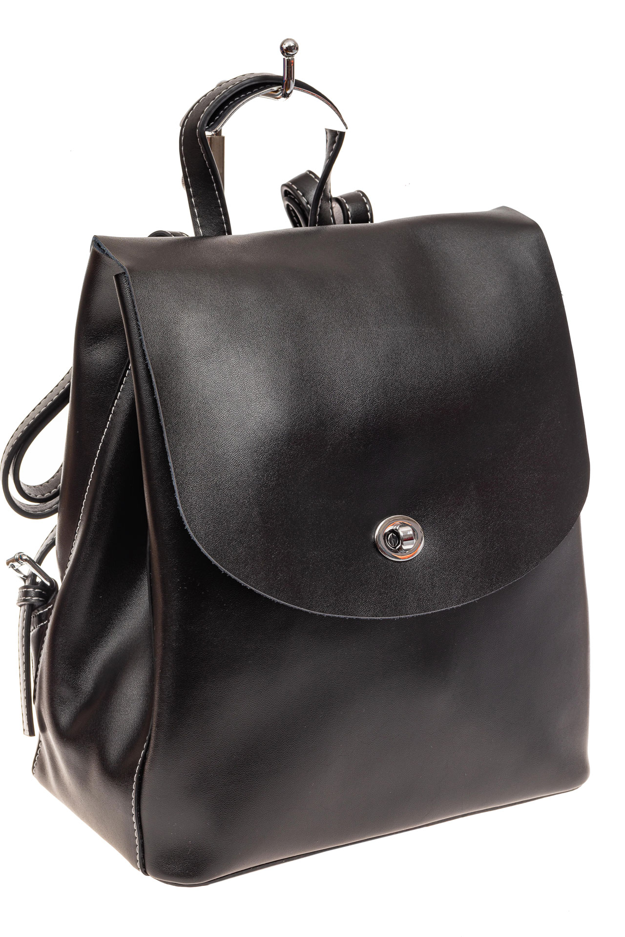 Классический женский рюкзак трансформер из натуральной кожи, цвет черный55-9950RJ1219/1