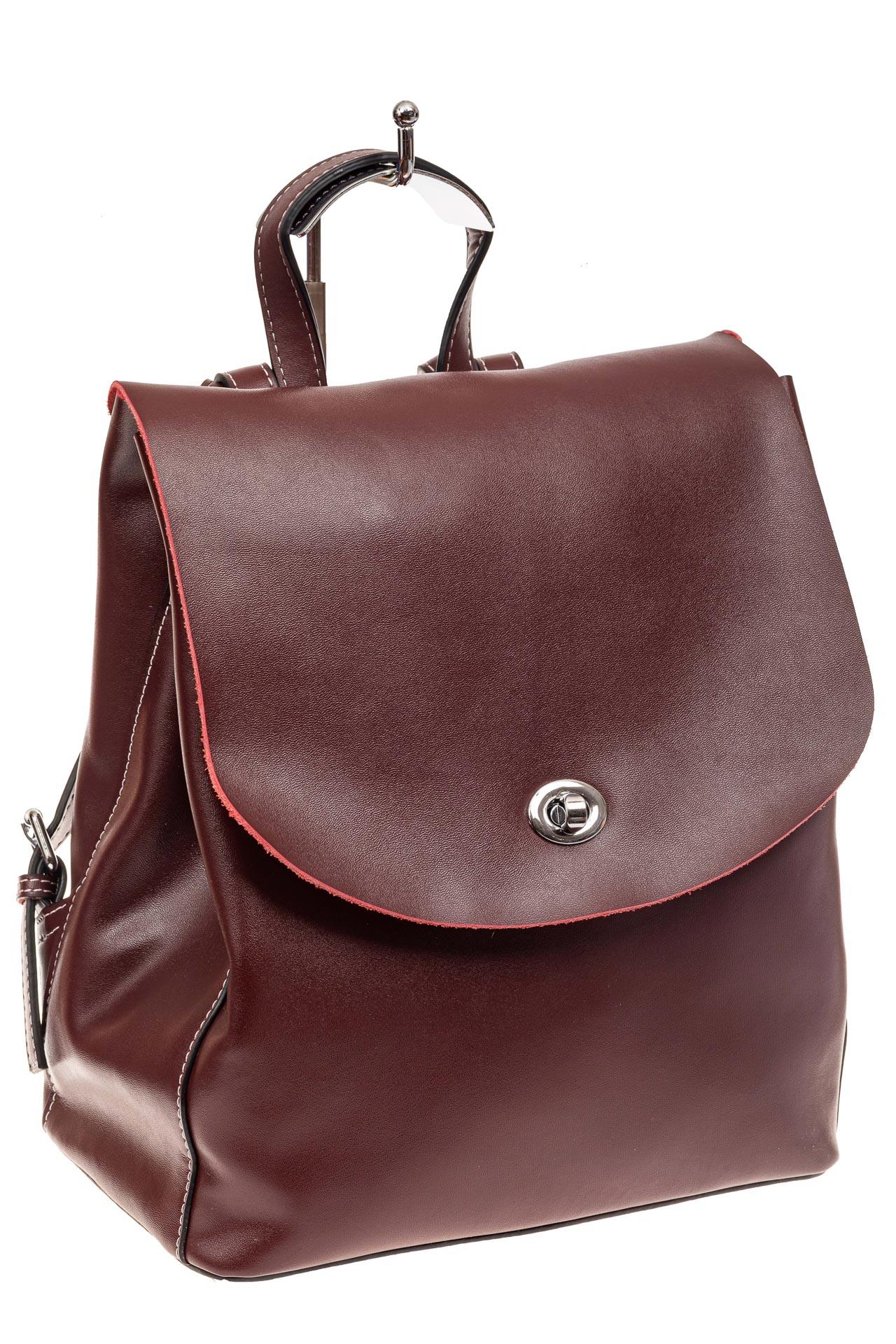 Классический женский рюкзак трансформер из натуральной кожи, цвет бордо55-9950RJ1219/4