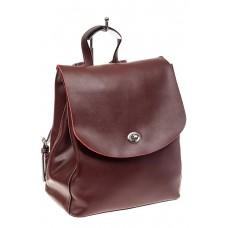 На фото 1 - Классический женский рюкзак трансформер из натуральной кожи, цвет бордо