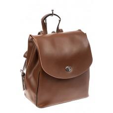На фото 1 - Классический женский рюкзак трансформер из натуральной кожи, цвет коричневый