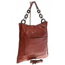 На фото 1 - Минималистичная сумка из натуральной кожи, ...