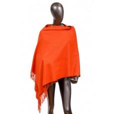На фото 1 - Шарф-палантин из шерсти, цвет оранжевый