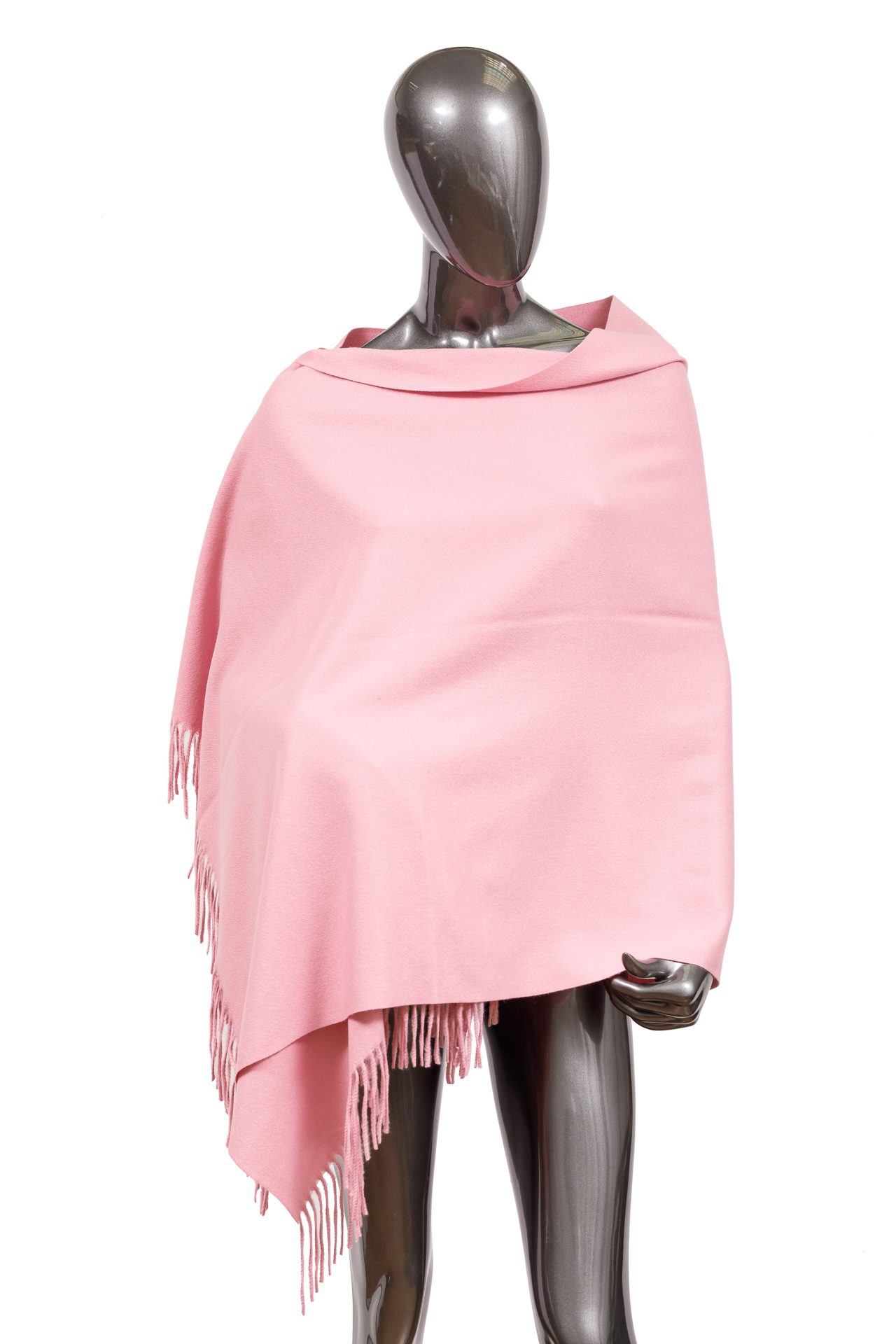 На фото 1 - Шарф-палантин из шерсти, цвет розовый