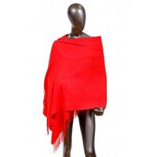 На фото 1 - Шарф-палантин головной из шерсти, цвет красный