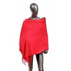 На фото 1 - Шарф-палантин из шерсти, цвет бордо