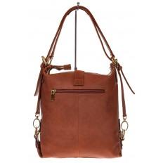 На фото 3 - Женская сумка-трансформер из замши, цвет рыжий