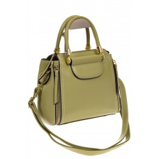 На фото 1 - Оливковая сумка-тоут из эко-кожи 5664
