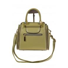 На фото 3 - Оливковая сумка-тоут из эко-кожи 5664