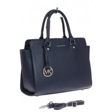 На фото 1 - Каркасная женская сумка из искусственной кожи, цвет синий