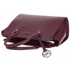 На фото 4 - Каркасная женская сумка из искусственной кожи, цвет бордо
