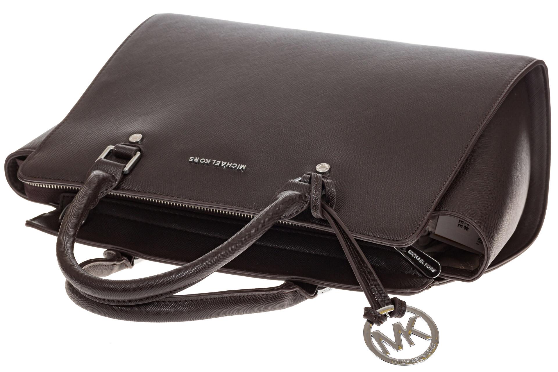 На фото 4 - Каркасная женская сумка из искусственной кожи, цвет кофе