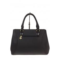 На фото 3 - Классическая женская сумка из искусственной кожи, цвет черный