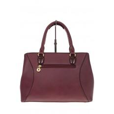 На фото 3 - Классическая женская сумка из искусственной кожи, цвет бордо